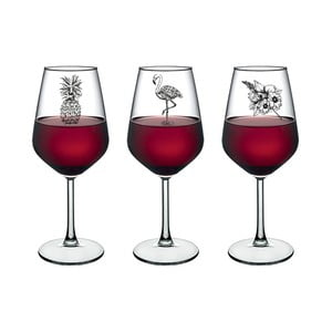 Sada 3 sklenic na víno Vivas Amazon, 345 cm