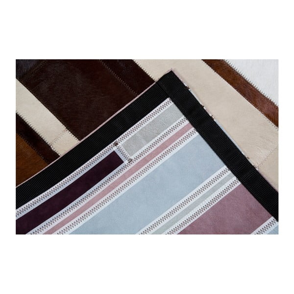 Hnědý koberec z pravé kůže Pipsa Diffused, 120x180 cm