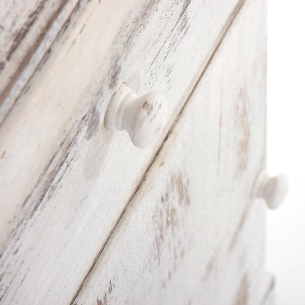 Bílý dřevěný noční stolek Mendler Shabby