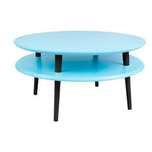 Tyrkysový konferenční stolek s černými nohami Ragaba UFO, Ø70cm
