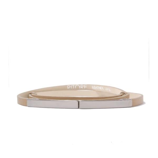 Nastavitelný kožený pásek Etro cappucino, 72 až 108 cm