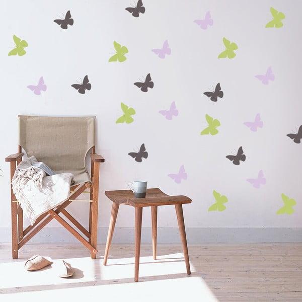 Dekorativní samolepka na zeď Barevní motýlci