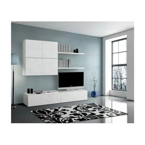 Bílá dřevěná obývací stěna Evergreen House Diego