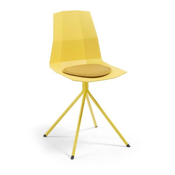 Pernă scaun La Forma Stick, galben