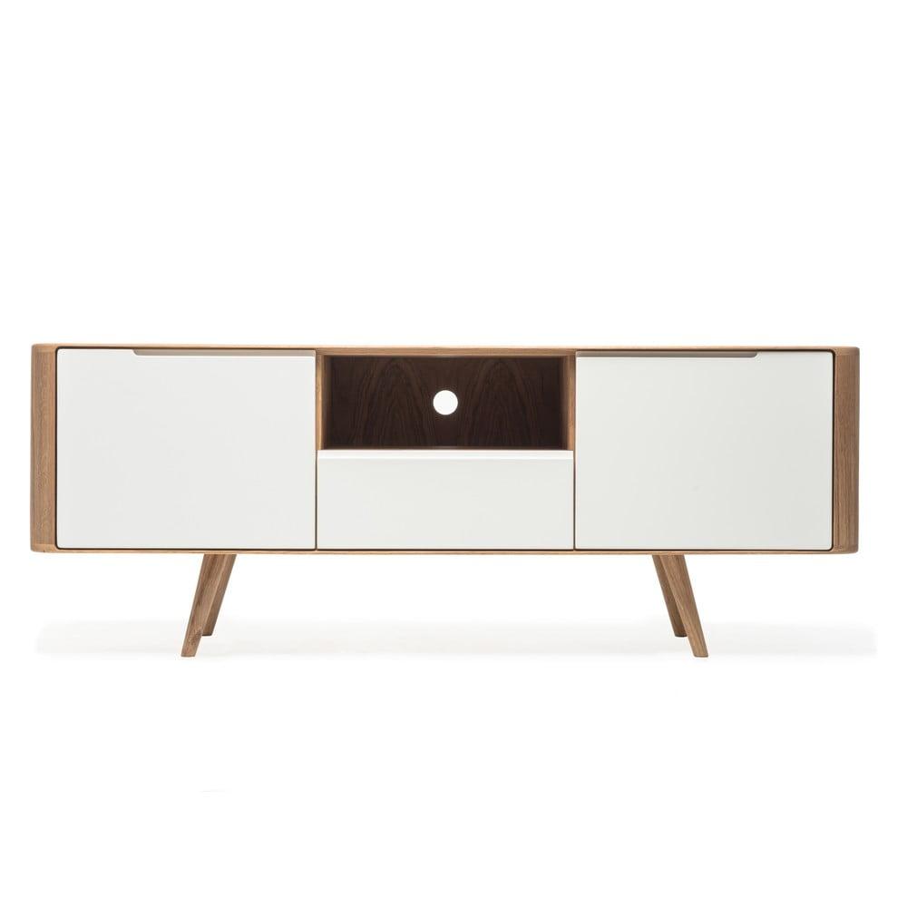Televizní stolek z dubového dřeva Gazzda Ena Two, 160 x 42 x 60 cm