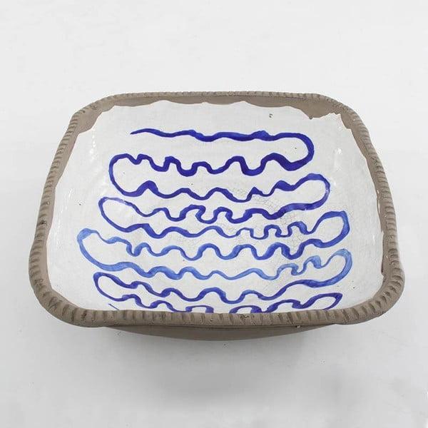 Keramická mísa Blue Stripes, 34 cm