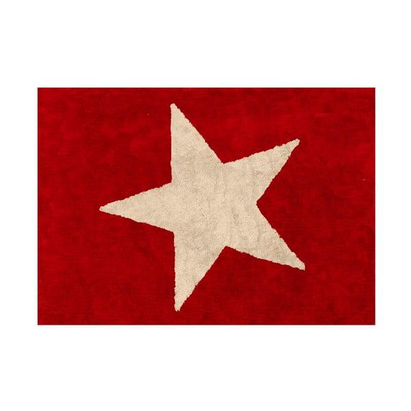 Koberec Estela 160x120 cm, červeno-béžový