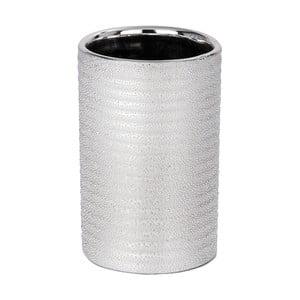 Coș de gunoi ceramic Wenko Polaris Juwel, argintiu