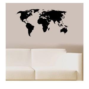 Vinylová samolepka na stěnu Mapa světa