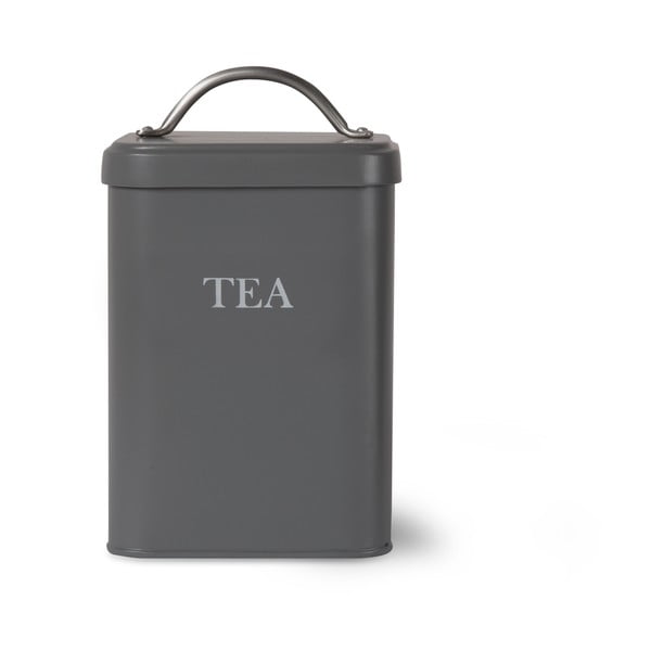 Tmavě šedá dóza na čaj Garden Trading Tea
