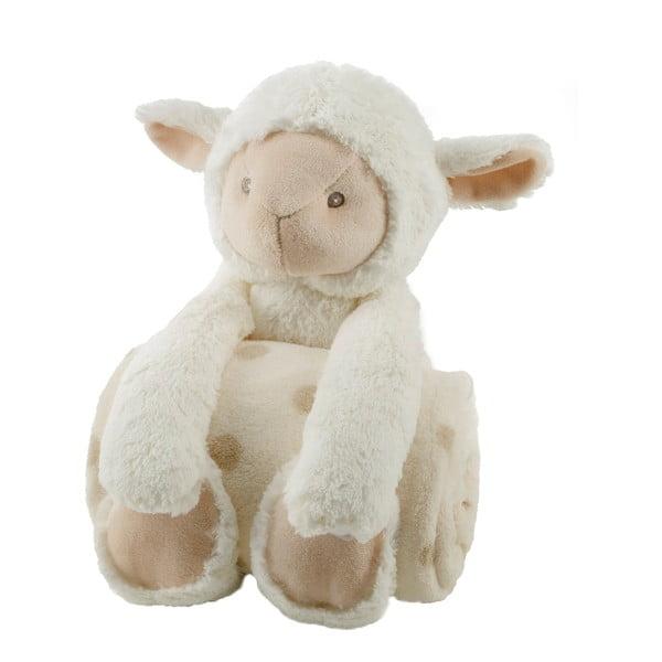 Plyšová ovečka s dětskou dekou, 75x100 cm