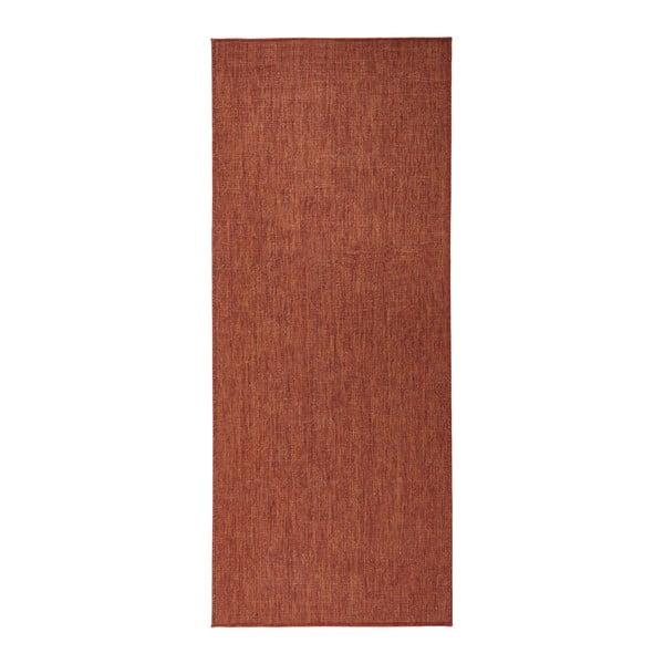 Tehlovočervený obojstranný koberec Bougari Miami, 80×250 cm