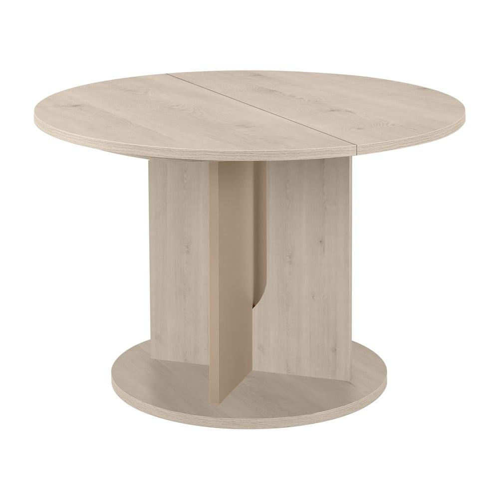 Světle šedý kulatý jídelní stůl Gami Sha
