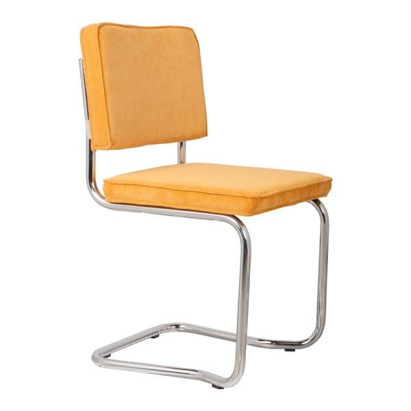 Sada 2 žlutých židlí Zuiver Ridge Kink Rib