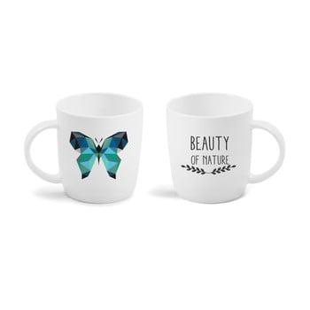 Cană cu mesaj imprimat față - verso Vialli Design Butterfly, 370 ml de la Vialli Design