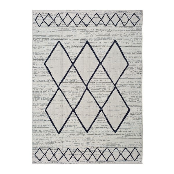 Bielo-sivý vonkajší koberec Universal Elba, 80 x 150 cm