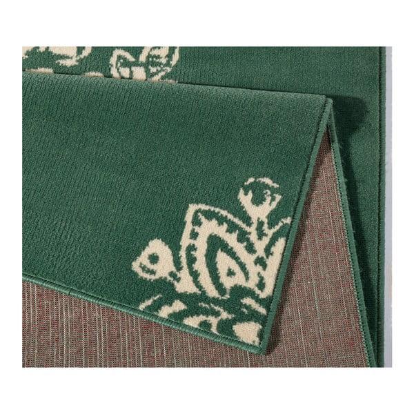 Zelenobílý koberec Hanse Home Gloria Blossom, 200x290cm