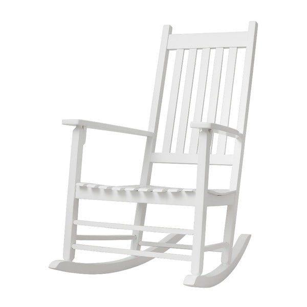 Biały fotel bujany BELLAMY Cosy
