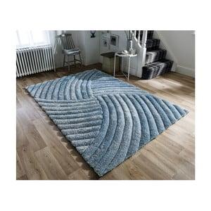 Modrozelený koberec Flair Rugs Furrow Duck Egg, 160 x 230 cm