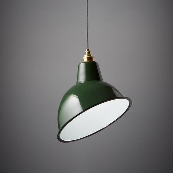 Závěsné světlo Angled Cloche Green