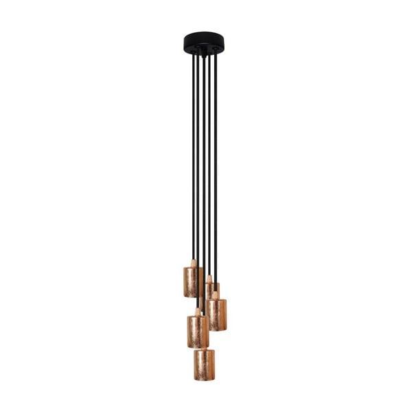Pět závěsných kabelů Cerou Group, měděná/černá/černá
