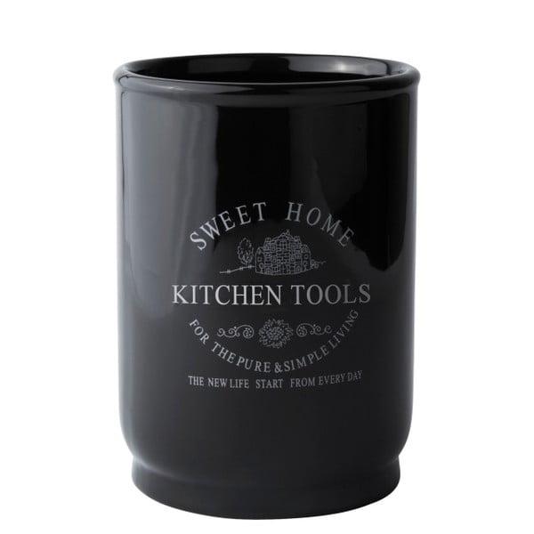 Stojan na kuchyňské náčiní Sweet Home, černý