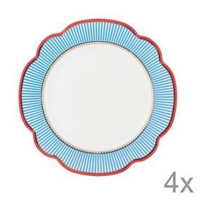 Porcelánový talíř Seaside od Lisbeth Dahl, 24 cm, 4 ks