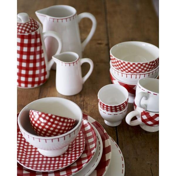 Sada 6 talířů Sarah 17 cm, červený