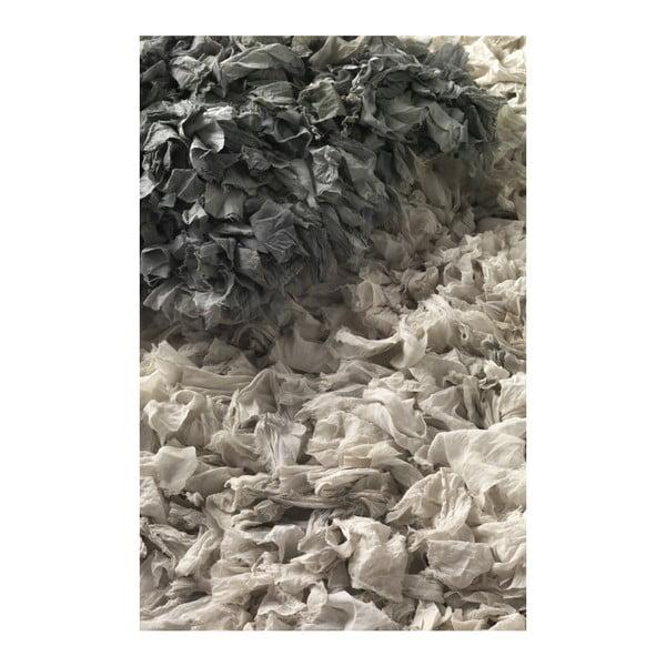 Šedý koberec Geese Fluffy, 120x 60 cm