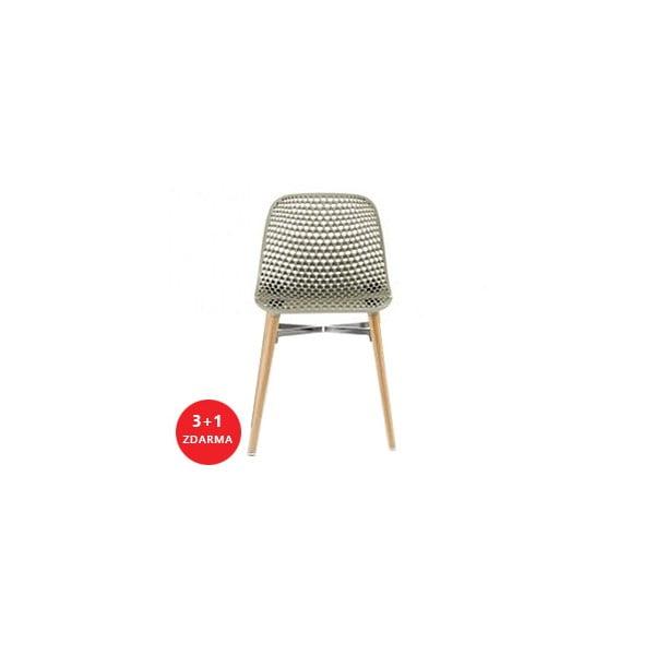 Set židlí Next 3+1 zdarma, šedá