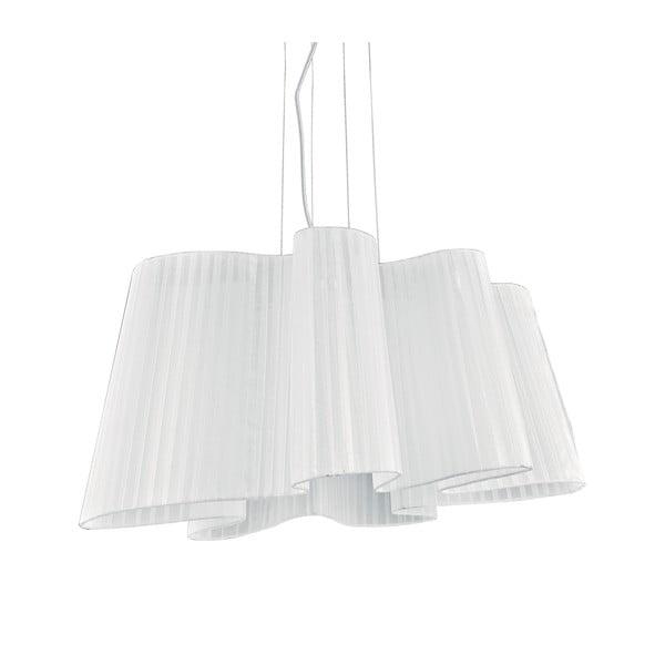 Bílé závěsné svítidlo Evergreen Lights Waves Lungo
