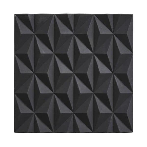 Origami Beak fekete szilikon edényalátét - Zone