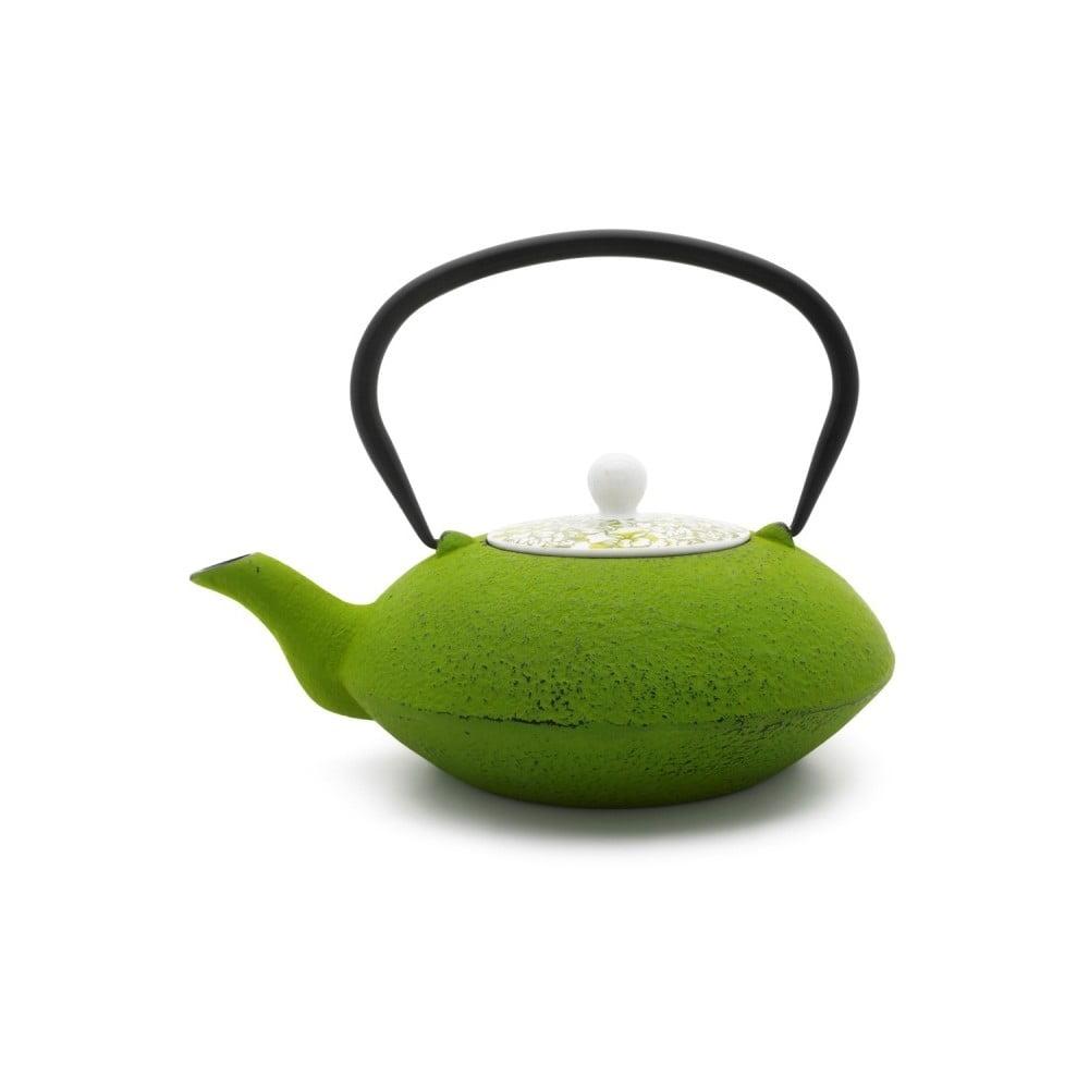 Zelená litinová konvička na čaj Bredemeijer Yantai, 1,2 l