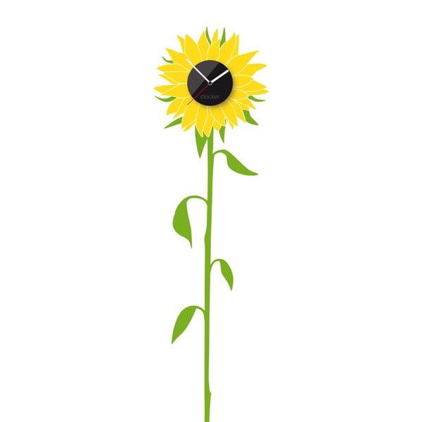 Hodiny se samolepkou Sunflower