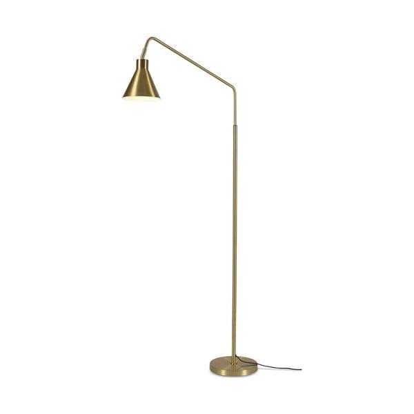 Stojacia lampa v zlatej farbe Citylights Lyon, výška 153 cm