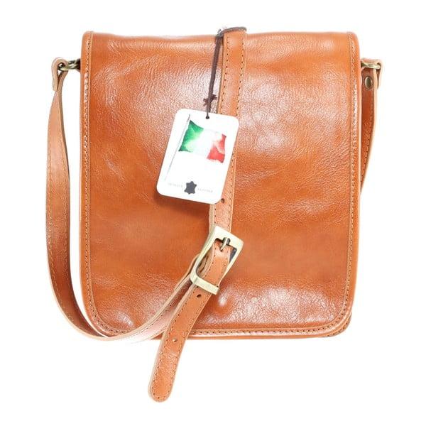 Karamelová pánská kožená taška přes rameno Chicca Borse Roads