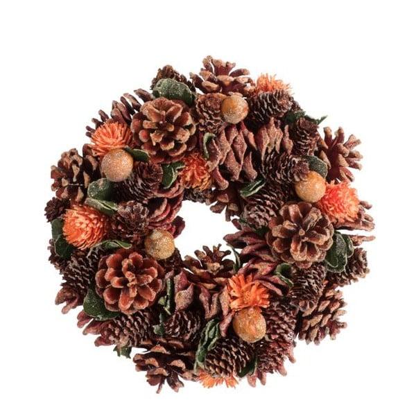 Świąteczny wieniec z szyszkami J-Line Pine
