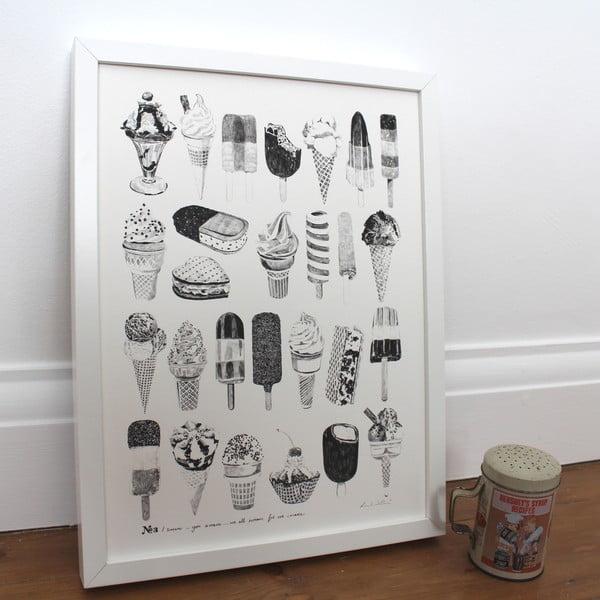 Plakát We All Scream For Ice Cream, 30x40 cm