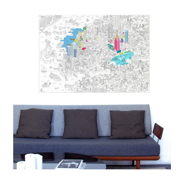 Omalovánka OMY NYC (70 x 100 cm)