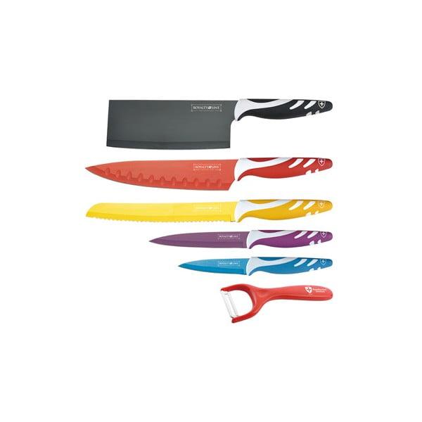 6dílná sada nožů Chef Non-stick Color, barevná