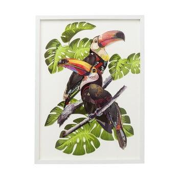 Tablou Kare Design Paradise Bird Couple, 70x50cm