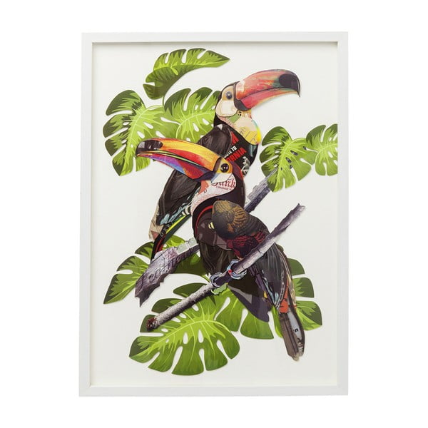 Obraz Kare Design Paradise Bird Couple, 70 x 50 cm