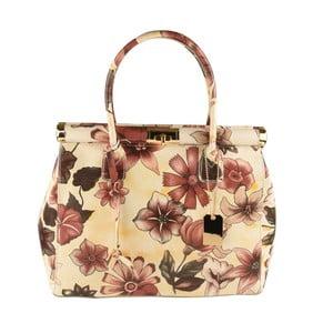 Béžová kožená kabelka Matilde Costa Sapporo