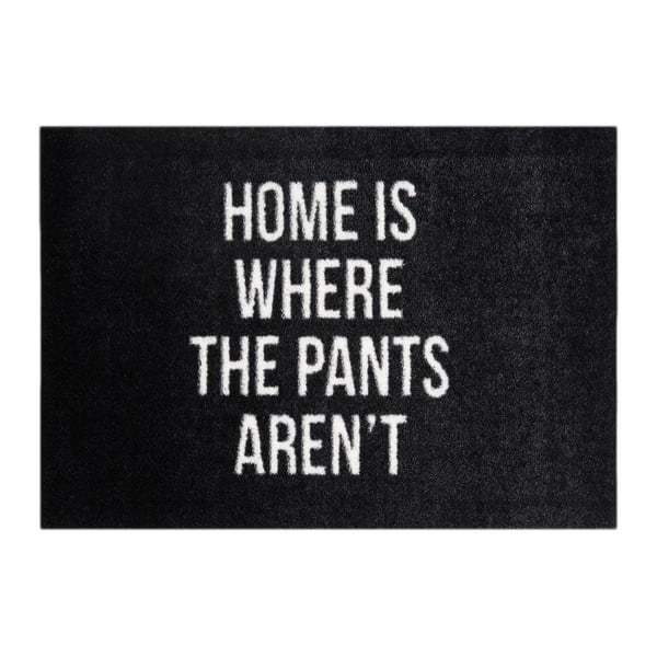 Čierna rohožka Mint Rugs StateMat Home, 50 × 75 cm