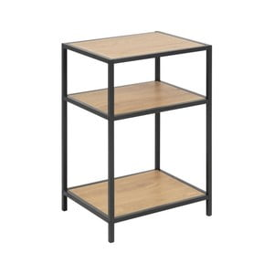 Černo-hnědý noční stolek Actona Seaford