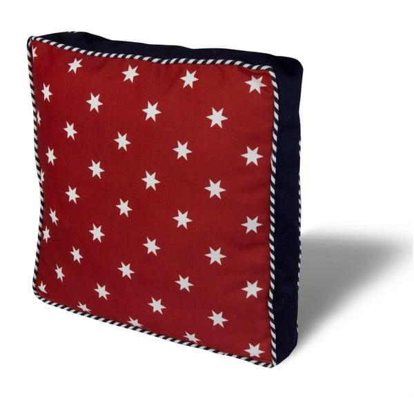 Pernă pentru scaun Gravel Red Stars, 42x42cm,cuumplutură