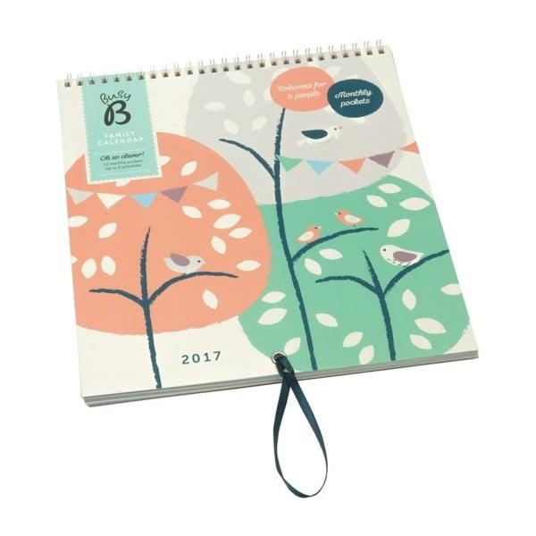Nástěnný kalendář Busy B Family Treehouse/Bird 2017