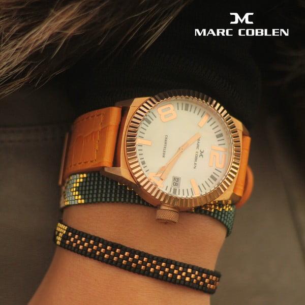 Dámské hodinky Marc Coblen s páskem a kroužkem navíc P119