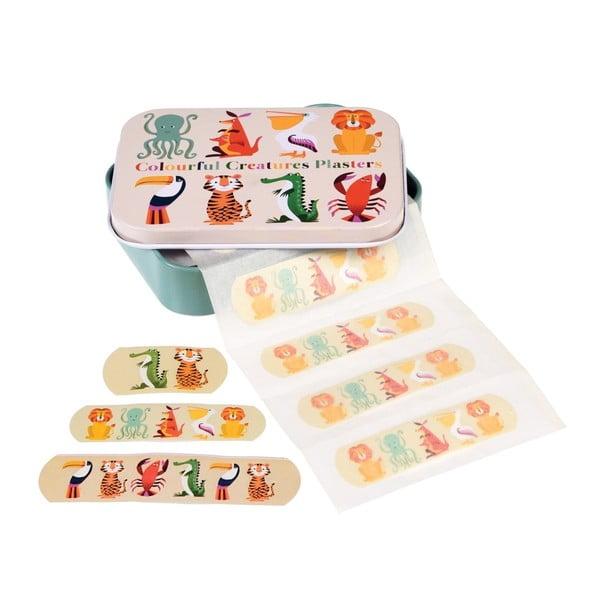 Sada náplastí v škatuľke Rex London Colourful Creatures