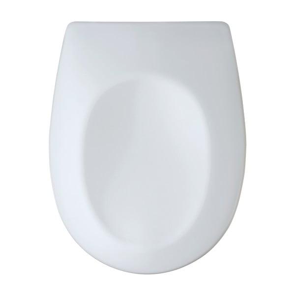 Bílé toaletní prkénko se snadným zavíráním Wenko Vorno Duroplast